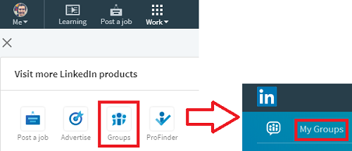 Accessing Groups on LinkedIn