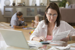 Woman Managing Family Financials