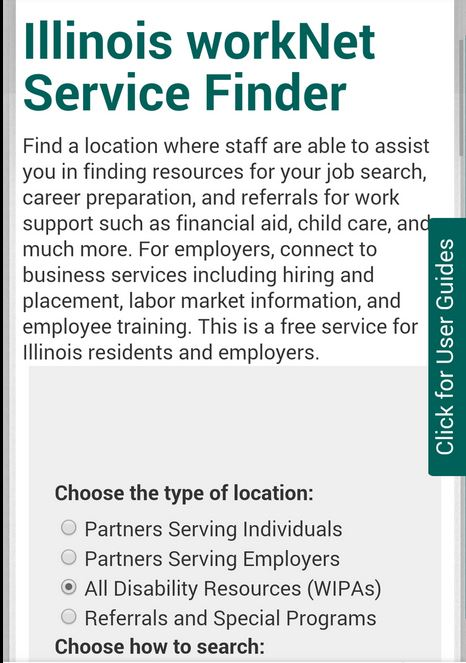 Service Locator Mobile Screen Shot