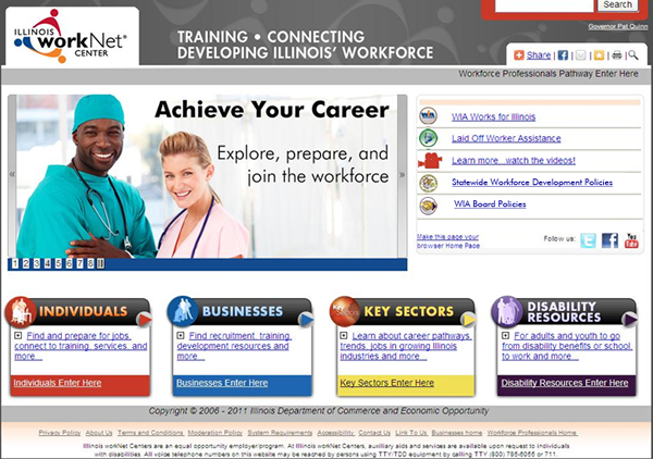 Illinois workNet Website 2011