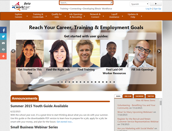 Illinois workNet Website 2014