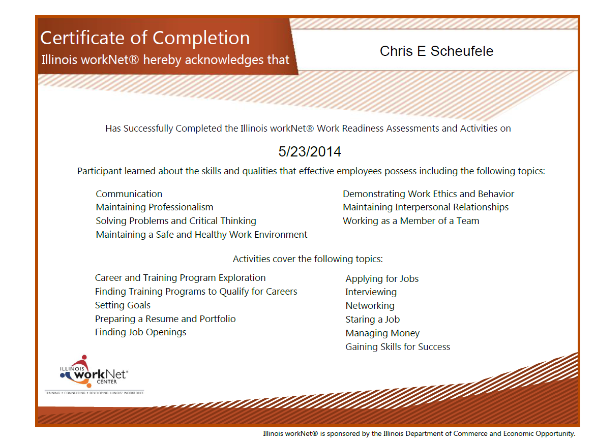 On the job training certificate of completion fieldstation on 1betcityfo Choice Image
