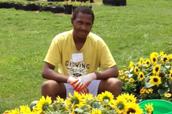 Community Garden youth participant