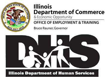 DCEO & IDHS Logos